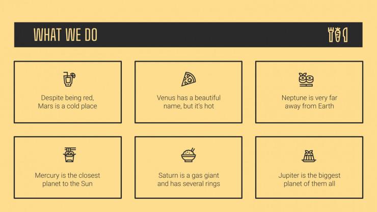 Vegetarisches Restaurant Firmenprofil Präsentationsvorlage