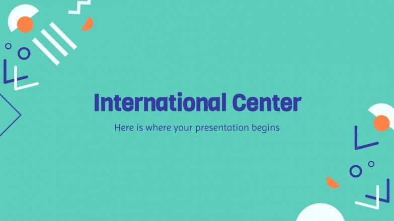 Modelo de apresentação Centro internacional