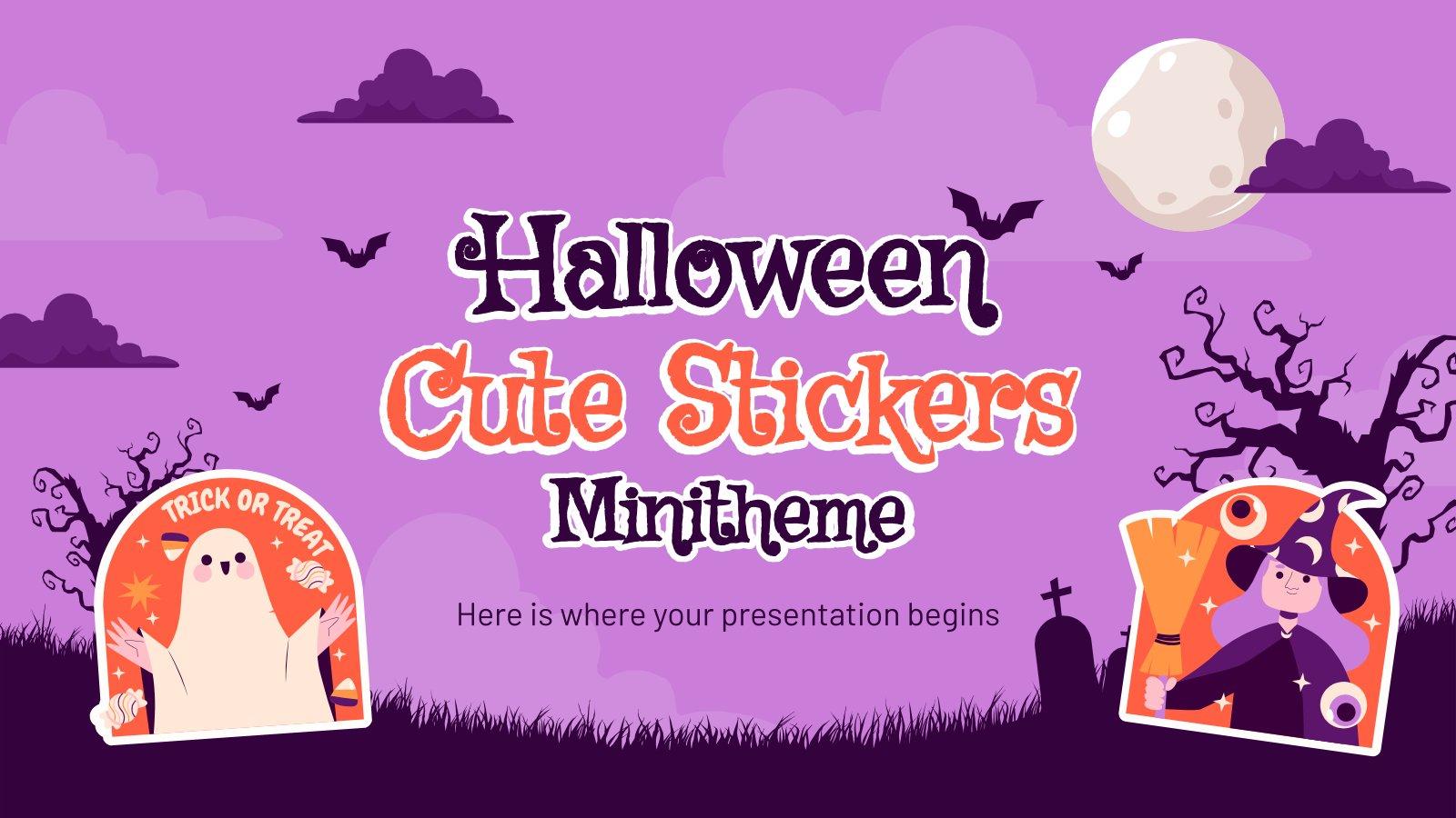 Minithème avec d'adorables autocollants de Halloween : Modèles de présentation