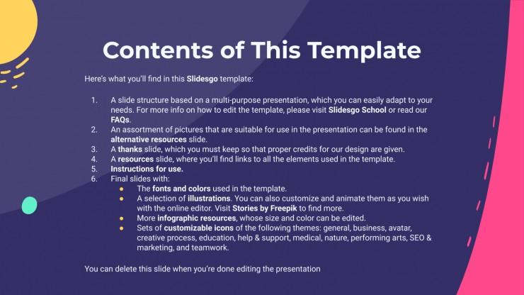 Plantilla de presentación Marketing Pitic