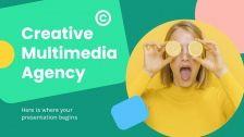 Plantilla de presentación Agencia multimedia creativa