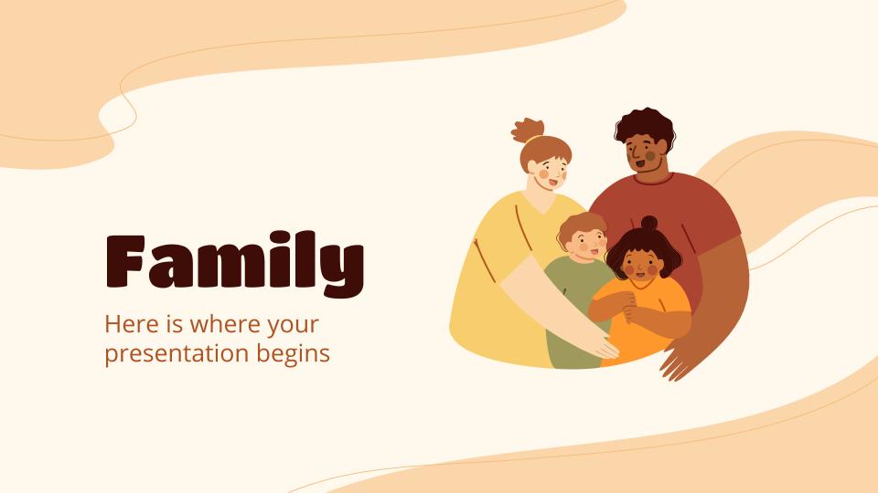 Plantilla de presentación La familia