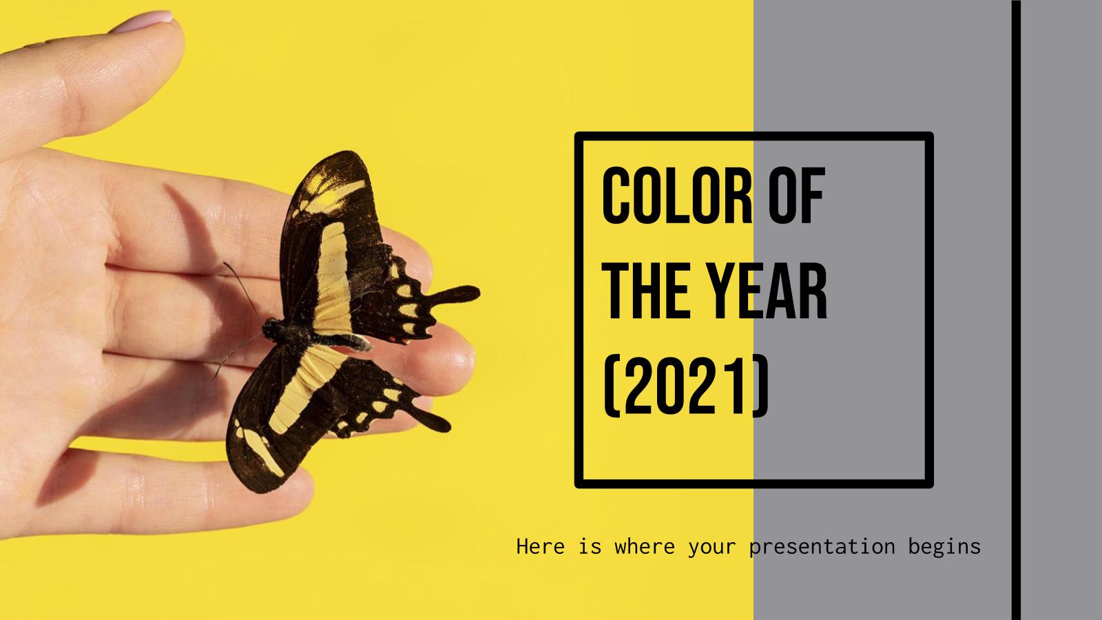 Modelo de apresentação Cor do ano de 2021