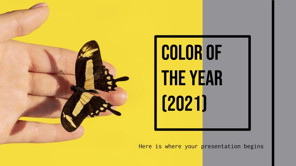 La couleur de l'année 2021 : Modèles de présentation
