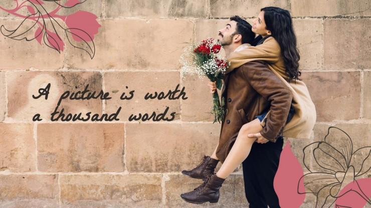 Modelo de apresentação Casal apaixonado
