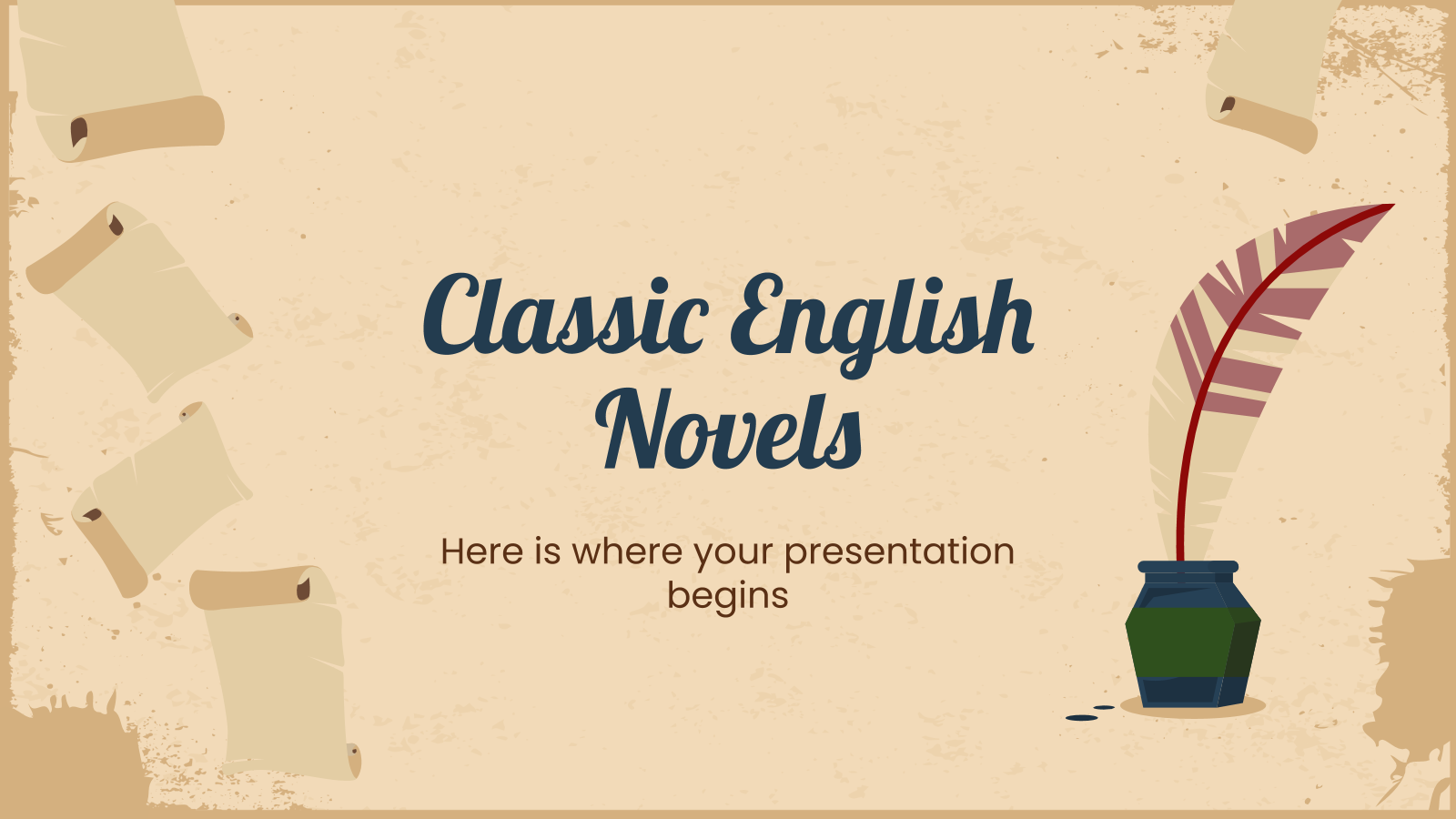 Classic English Novels presentation template