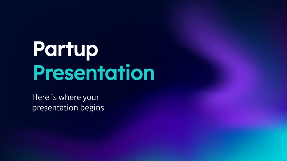 Partup presentation template