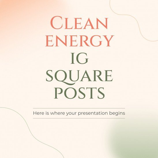 Clean Energy IG Square Posts presentation template