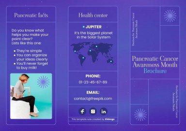 Broschüre: Bauchspeicheldrüsenkrebs Präsentationsvorlage