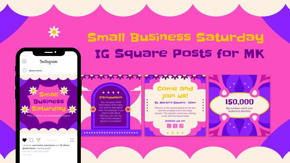 Kleine Unternehmen IG Marketing Posts Präsentationsvorlage