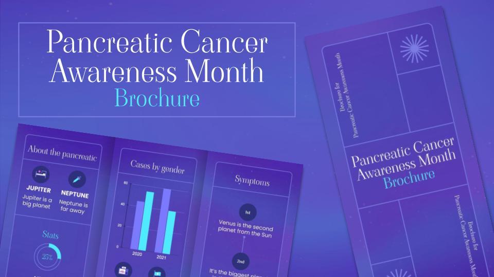Brochure du Mois de la sensibilisation au cancer du pancréas : Modèles de présentation