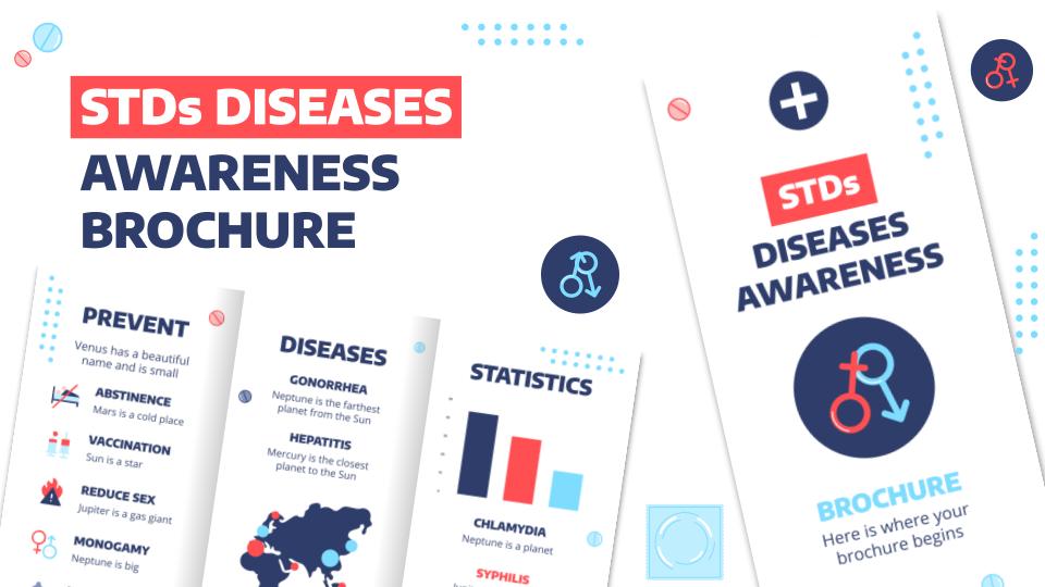 STDs Diseases Awareness Brochure presentation template