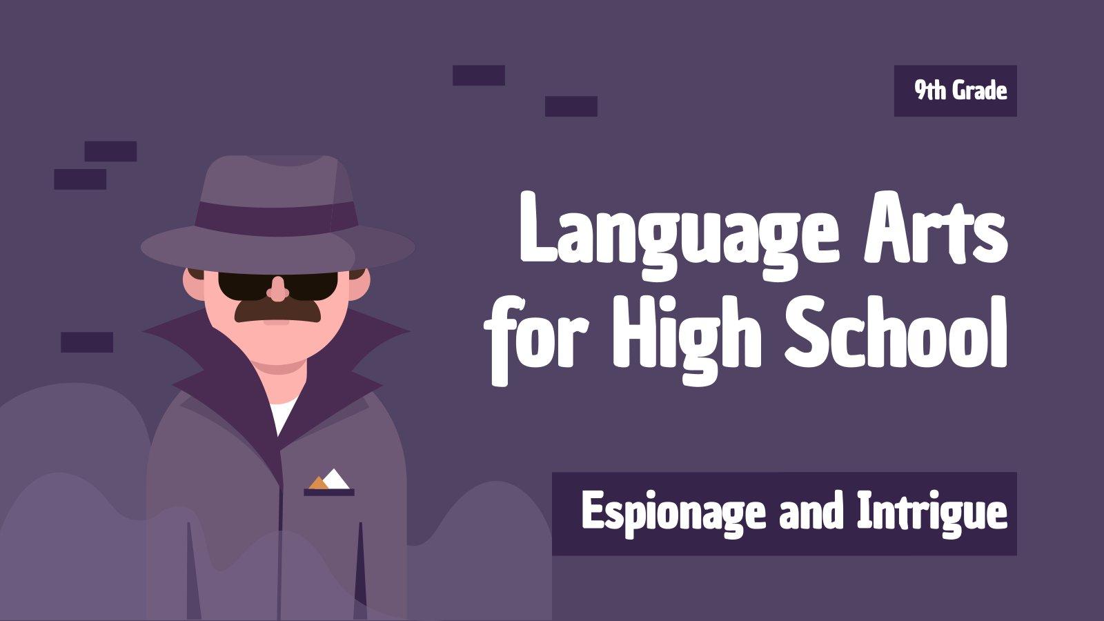 Plantilla de presentación Género literario de espionaje e intriga para el instituto