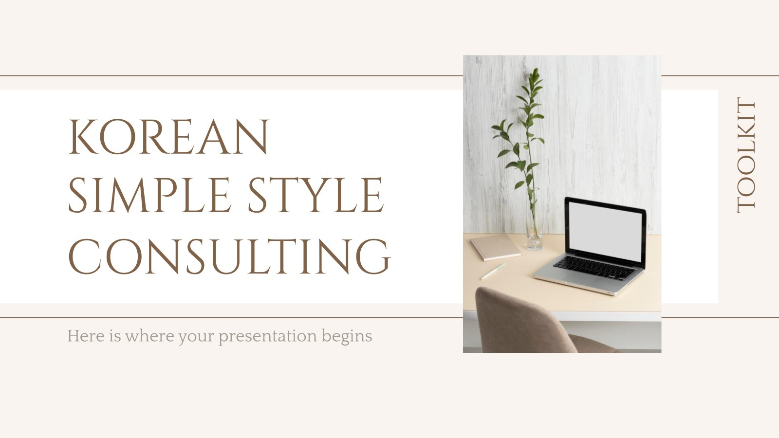 Korean Simple Style Consulting Toolkit presentation template