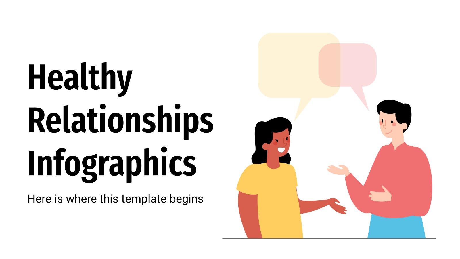 Infographies sur les relations saines : Modèles de présentation