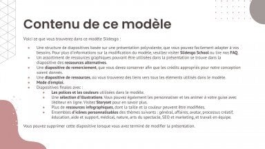 Modelo de apresentação Pacote estudantil de estilo sério