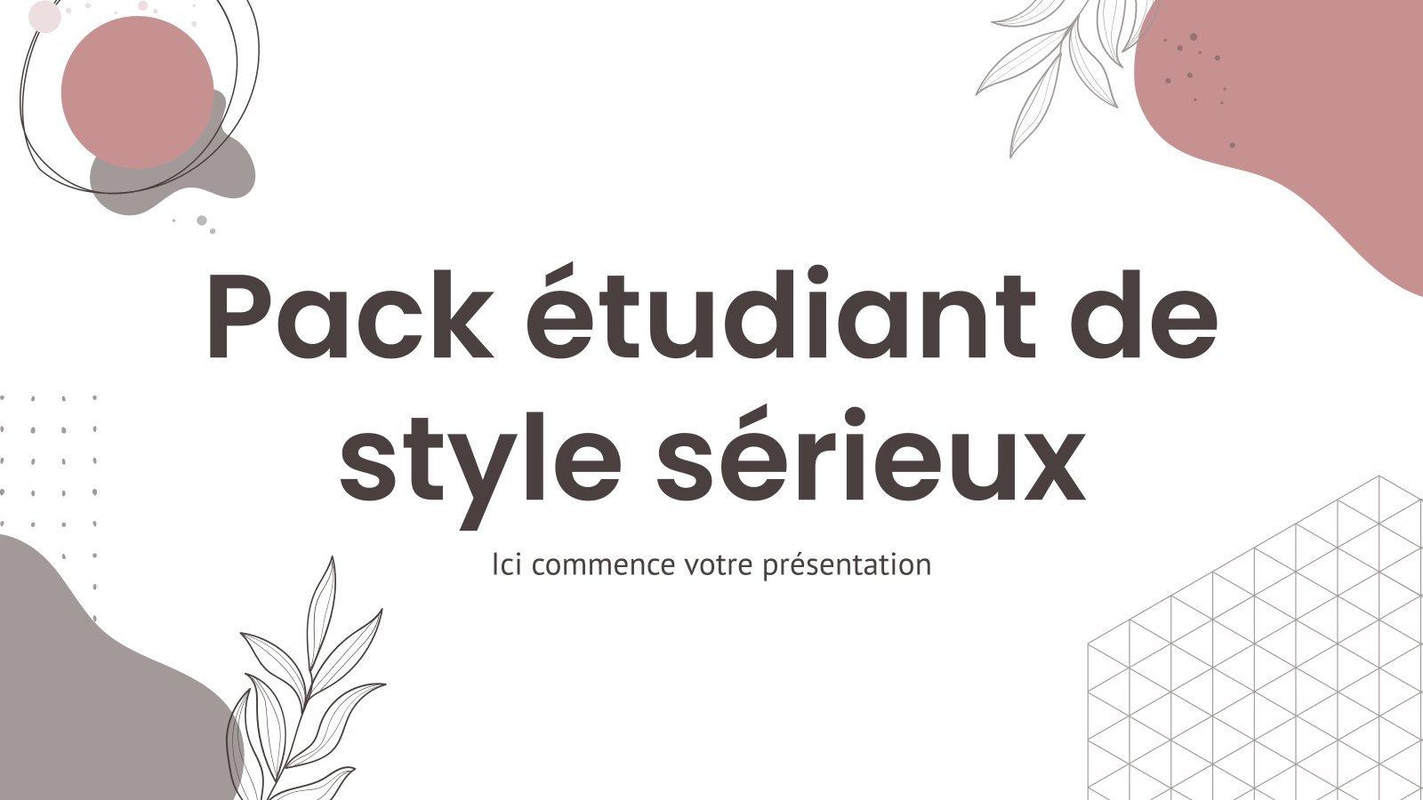 Pack étudiant de style sérieux : Modèles de présentation