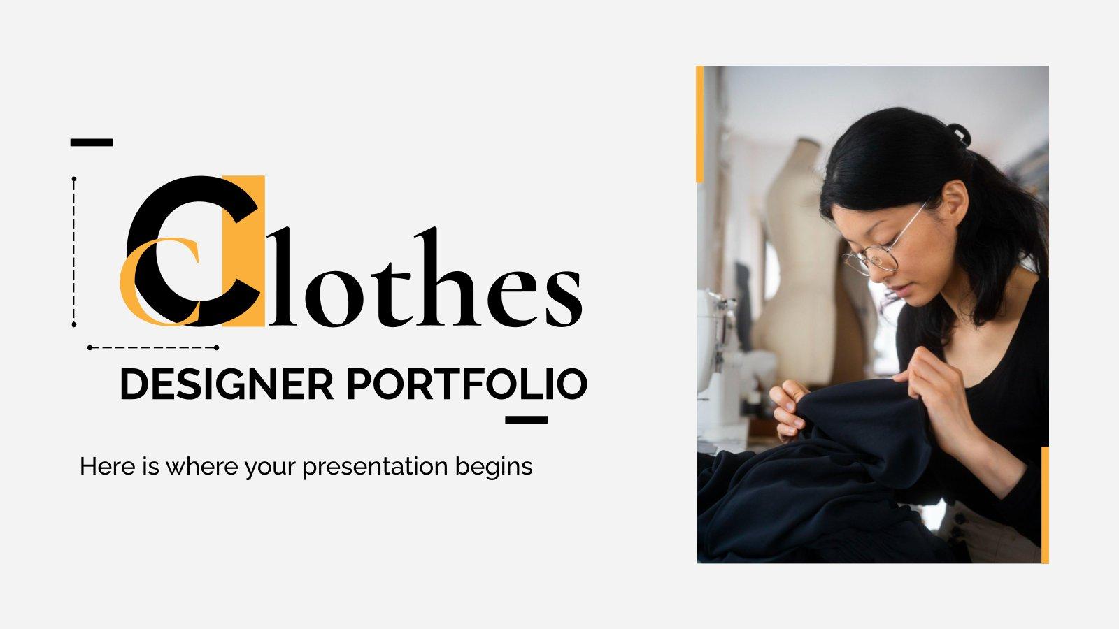 Kleidung Designer Portfolio Präsentationsvorlage