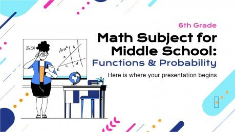 Math Subject for Middle School - 6th Grade: Functions & Probability II presentation template