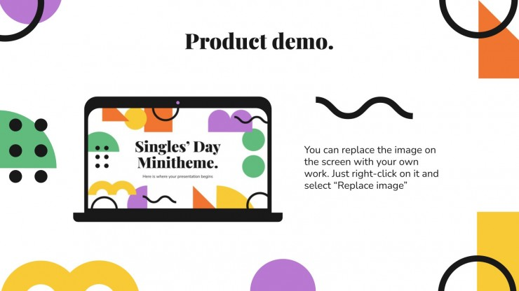 Singles' Day Minitheme presentation template
