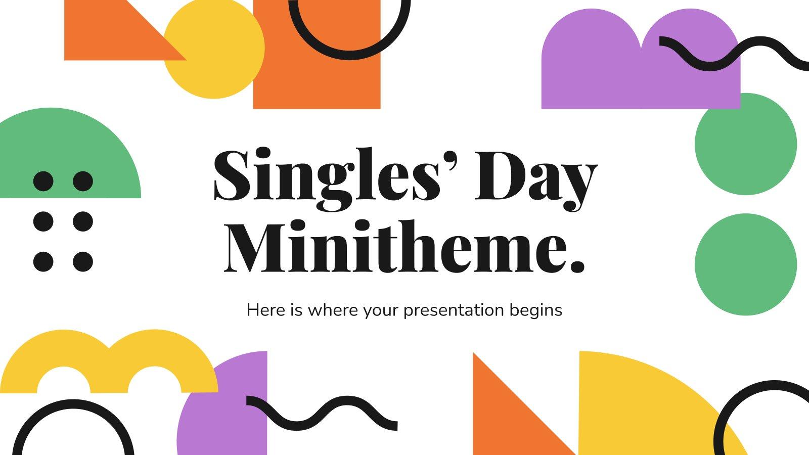 Modelo de apresentação Minitema do Dia dos Solteiros