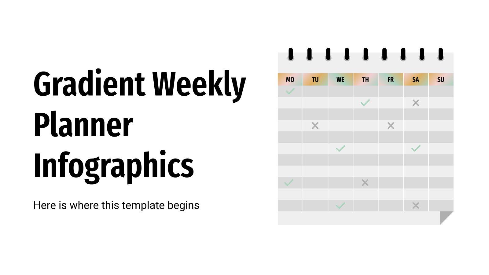Gradient Weekly Planner Infographics presentation template