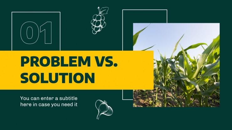 Agriculture Tech Pitch Deck presentation template