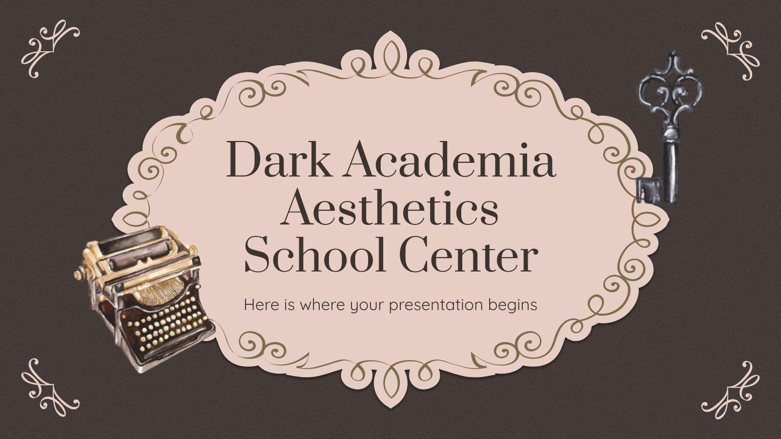 Modelo de apresentação Centro escolar de estética vintage