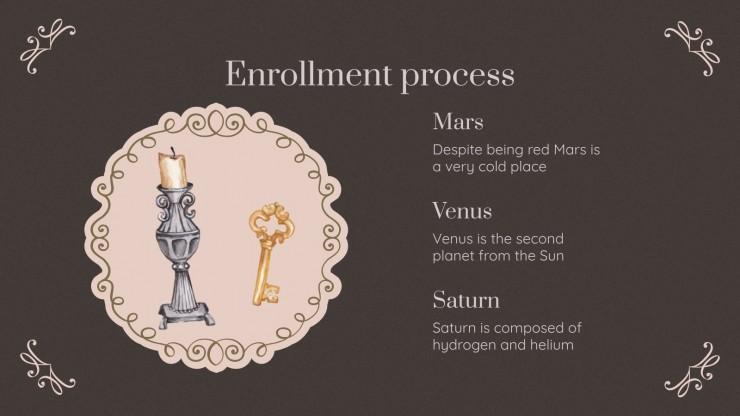 Dark Academia Aesthetics School Center presentation template