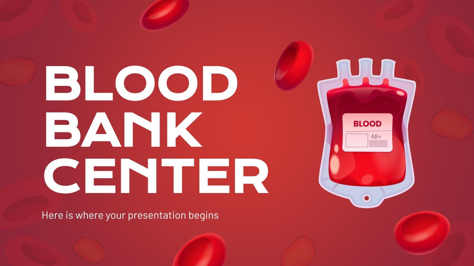 Blutbank Präsentationsvorlage