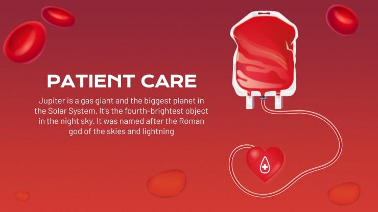 Blood Bank Center presentation template