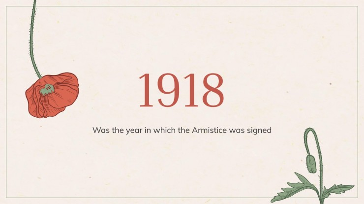Armistice Day Minitheme presentation template
