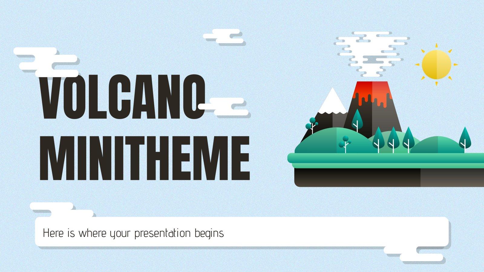 Plantilla de presentación Minitema sobre volcanes