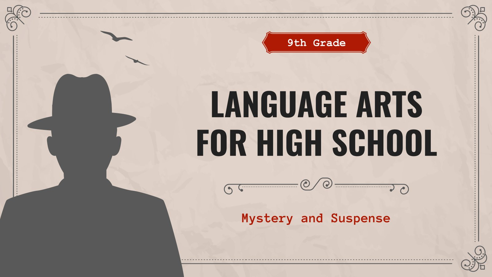 Modelo de apresentação Literatura para o ensino médio: Mistério e suspense