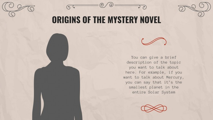 Language Arts for High School - 9th Grade: Mystery and Suspense presentation template