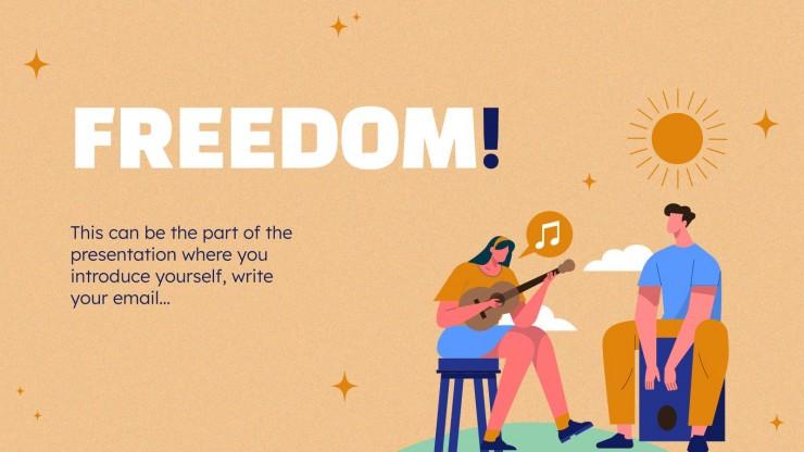 Journée mondiale de la liberté : Modèles de présentation