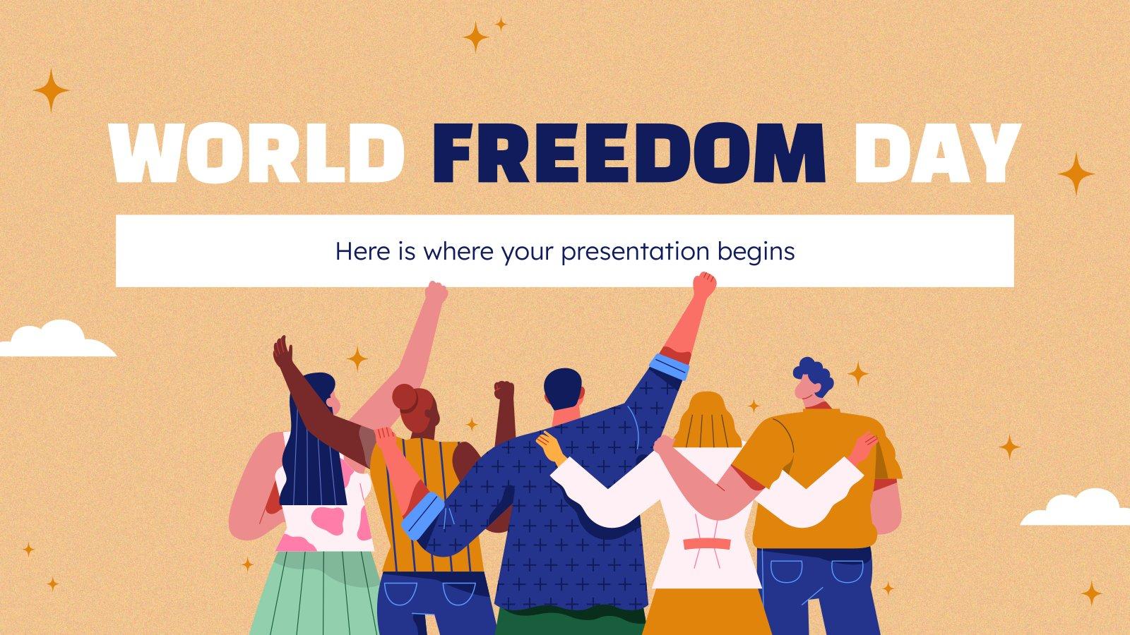 World Freedom Day presentation template