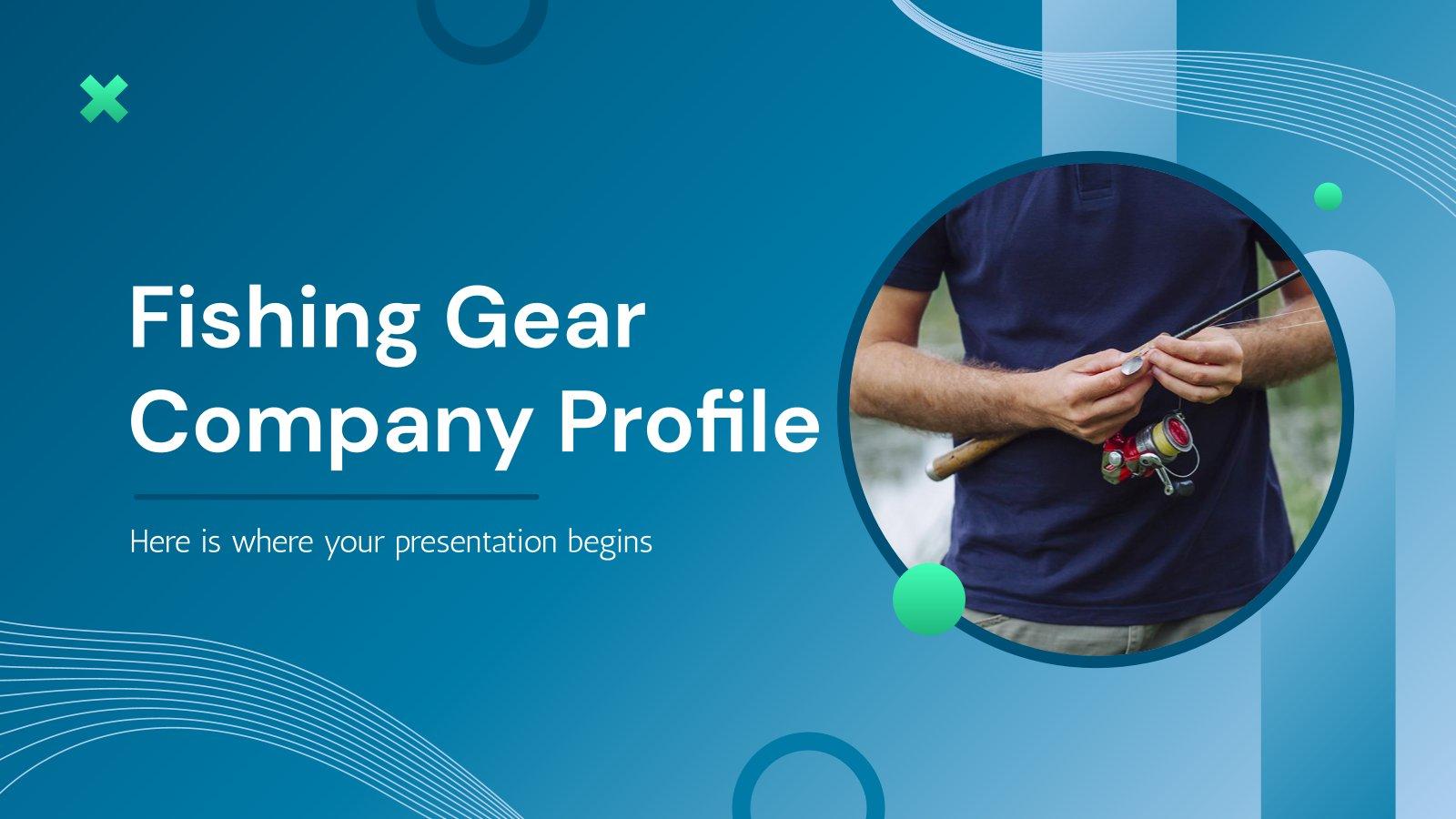 Profil de l'entreprise d'équipement de pêche : Modèles de présentation