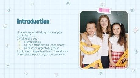 Modelo de apresentação Anuário escolar em aquarela