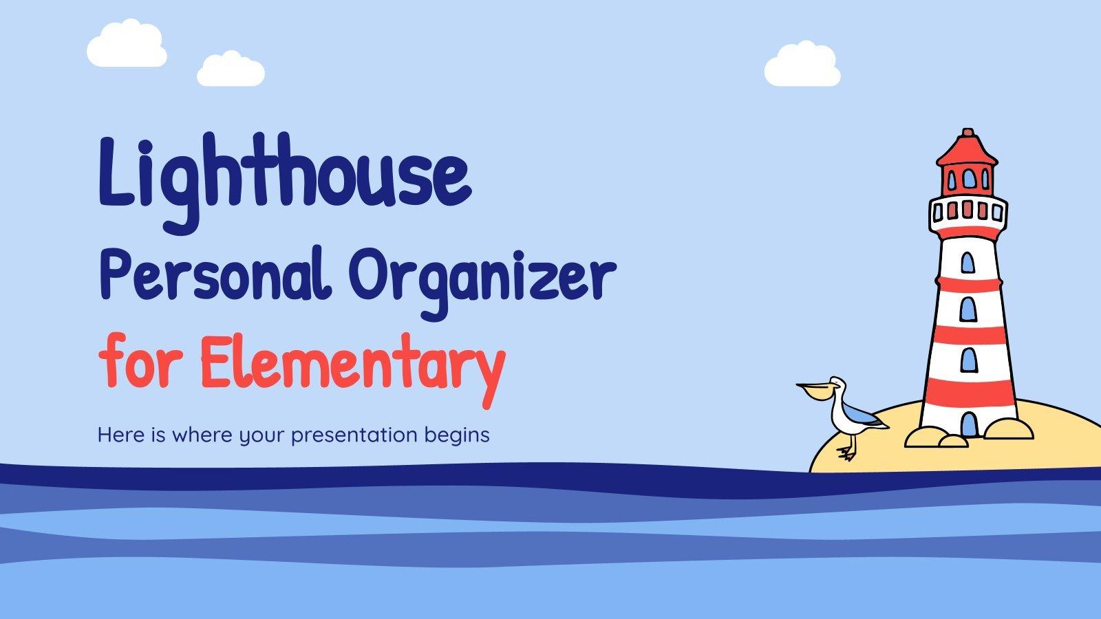 Planificateur scolaire avec phares : Modèles de présentation