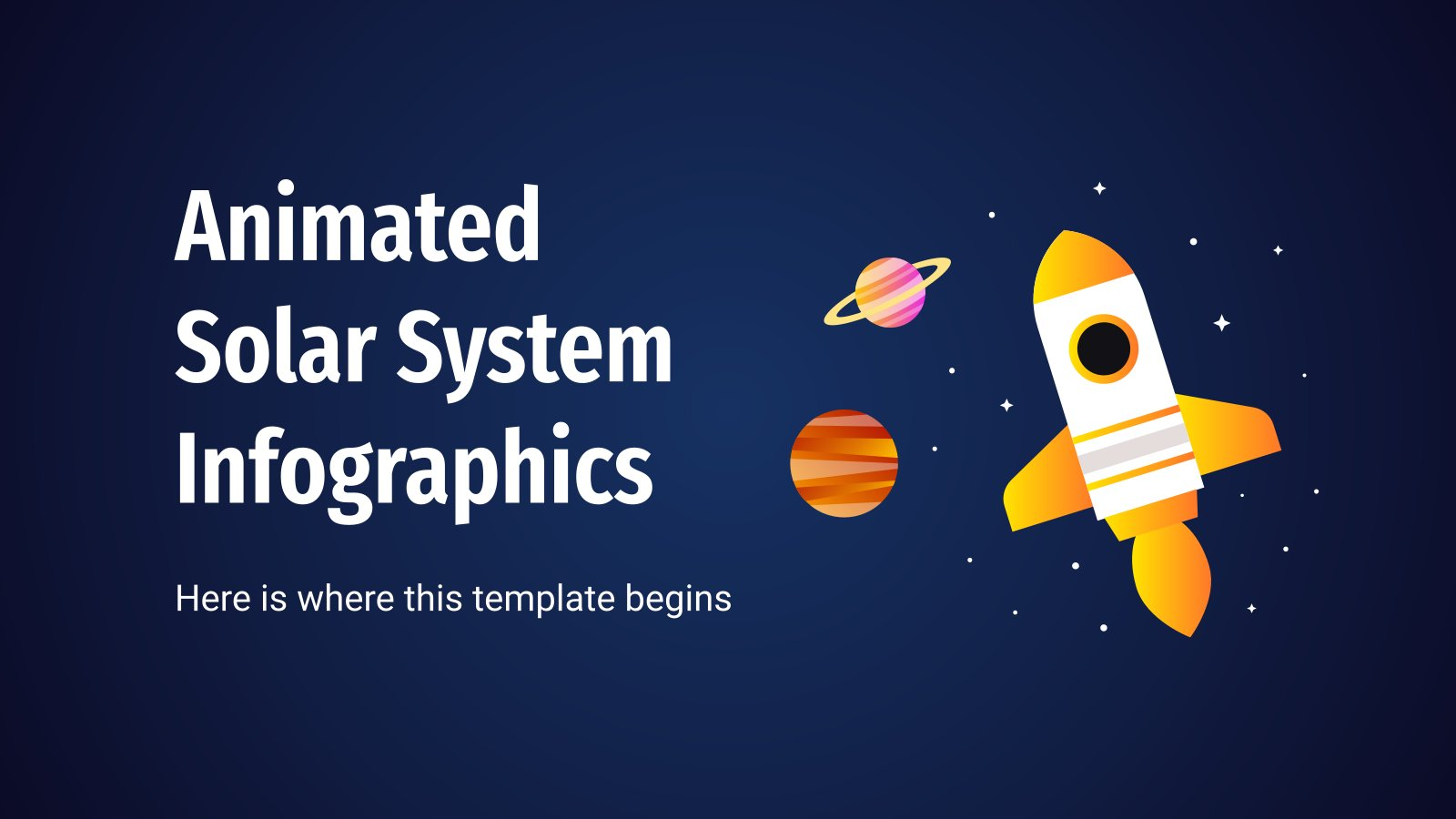 Animated Solar System Infographics presentation template