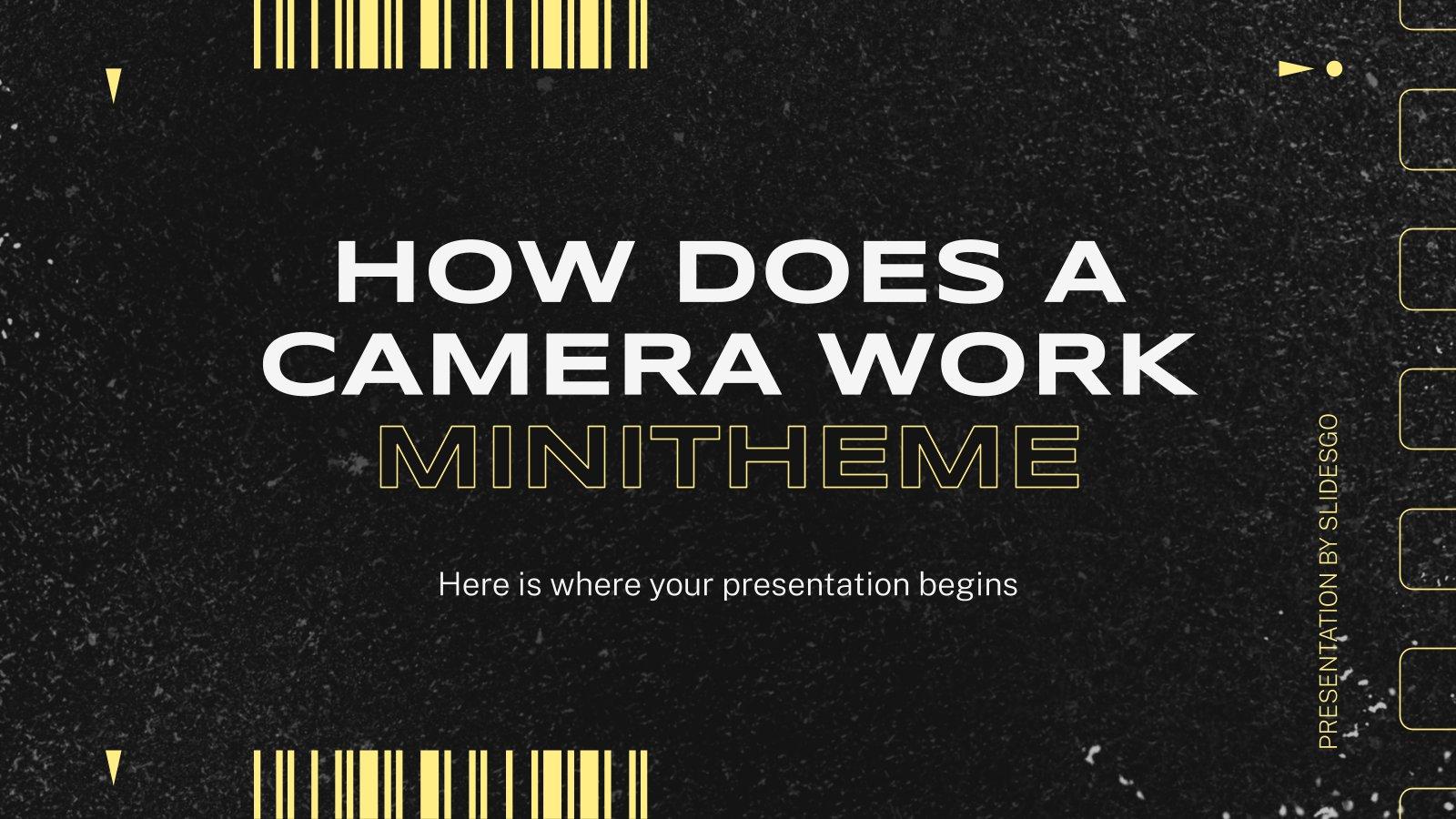 Plantilla de presentación Minitema: ¿Cómo funciona una cámara?