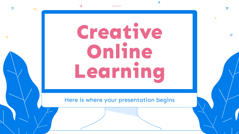 Creative Online Learning presentation template