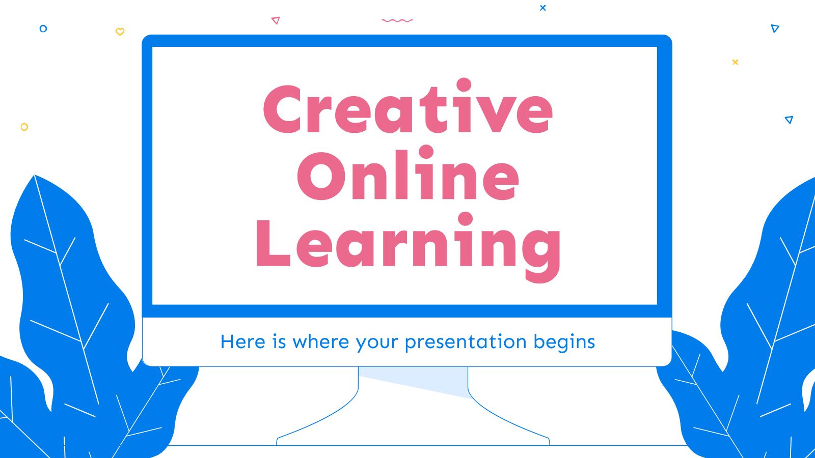 Plantilla de presentación Enseñanza online creativa
