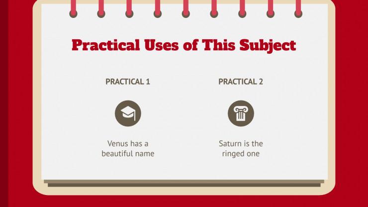 Modelo de apresentação Agenda universitária