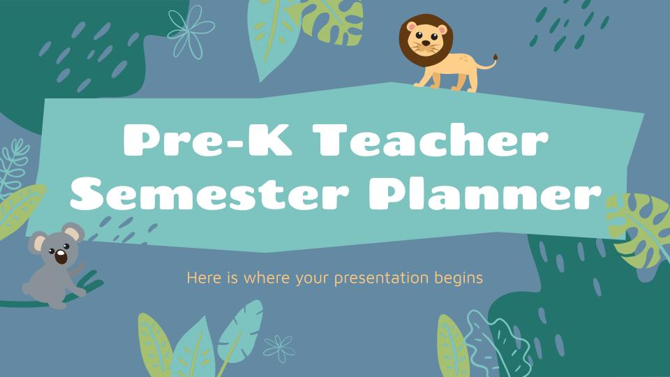 Planificateur de semestre pour les enseignants de maternelle : Modèles de présentation