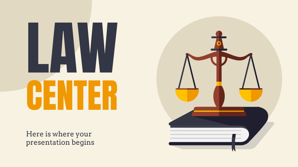 Law Center presentation template