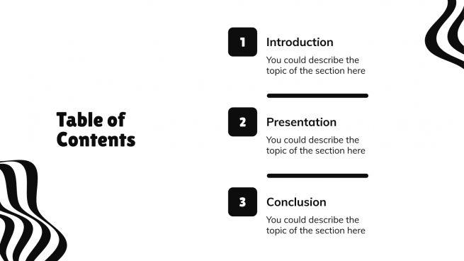 Modern Wave presentation template