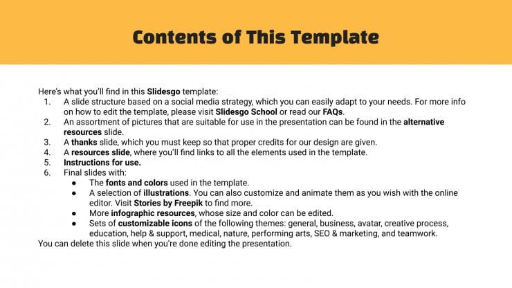 Stratégie de réseaux sociaux orange : Modèles de présentation