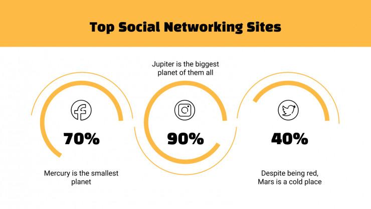 Plantilla de presentación Diapositivas naranjas para redes